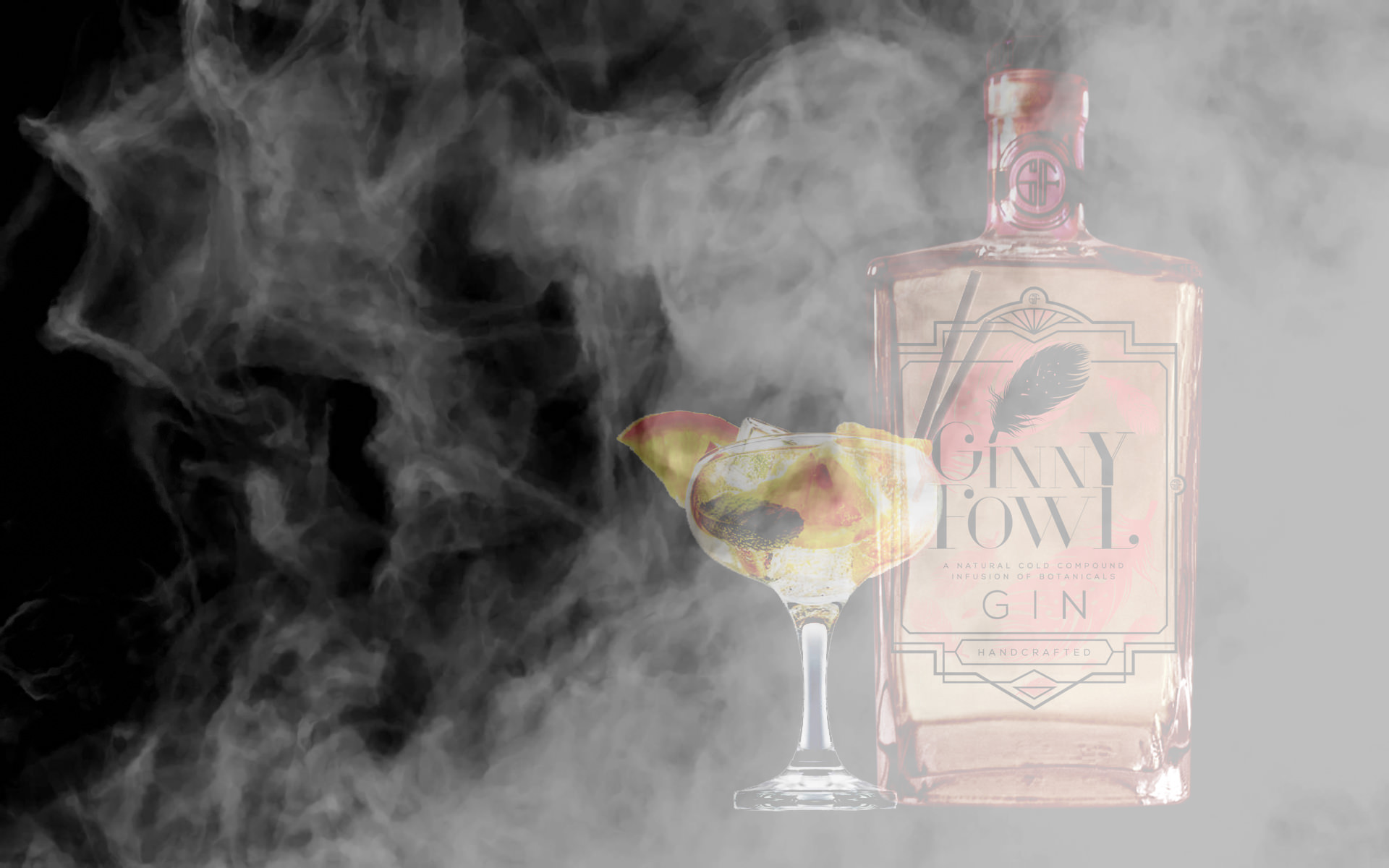 Ginny Fowl Hibiscus and Naartjie Gin